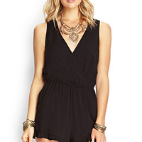 Ruffled Surplice Romper