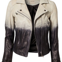 Dip Dye Leather Jacket, Selected Femme