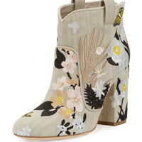 Laurence Dacade Pete Floral-Embroidered Western Boot
