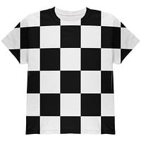 Finish Line Checkered Flag All Over Youth T Shirt