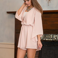 Sassy And Flashy Romper, Taupe