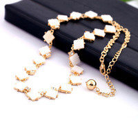 Fashion Stylish Classy Best Gift for Lovers Birthday Anniversary Valentines Christmas  Summer Shell Necklace Collarbone Chain _ 8600