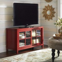 Sausalito Small TV Stand - Antique Red