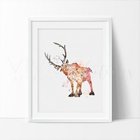 Sven 2, Frozen Watercolor Art Print
