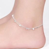 Women's Anklets Plated Bead Bracelet For Ankle