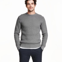 H&M Textured-knit Cotton Sweater $39.99