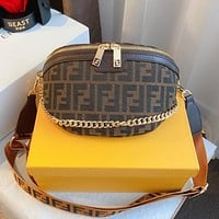 Fendi's new chest bag classic fashion shoulder messenger bag