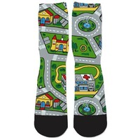 Toy Car Mat Socks