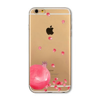 Pomegranate seed mobile phone case for iphone 5 5s SE 6 6s 6 plus 6s plus + Nice gift box 072701