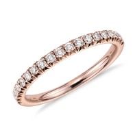 French Pavé Diamond Ring in 14k Rose Gold (1/4 ct. tw.) | Blue Nile