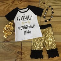 """""""Fearfully & Wonderfully Made"""" Sequin Outfit"""