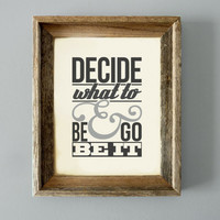 "The Avett Brothers Lyrics - ""Decide What To Be & Go Be It"" - 11x14 Head Full of Doubt/Road Full of Promise Song Lyrics Print"
