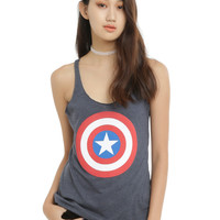 Marvel Captain America Shield Girls Tank Top