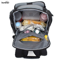 INSULAR Mommy Backpack Multifunction Waterproof Diaper Bag Big Capacity Removable Shoulder Strap baby nappy changing bag strolle