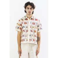 Tobacco Flag Patchwork Shirt