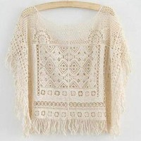 Hollow out Totem tassel smock