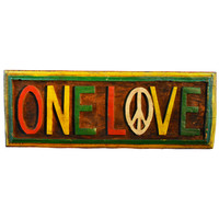 One Love Wood Wall Decor