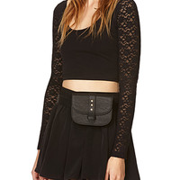 Funky Faux Leather Fanny Pack