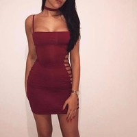 Straight Down the Side Party Dress