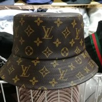 LV Louis Vuitton street fashion men and women sports and leisure fisherman hat visor