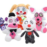 4pcs 25cm  At  Sister Location Funtime Freddy Fazbear Circus Baby Ennard Collectible Plush Toys  Plushies