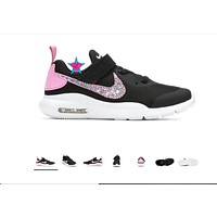Little Kid - Crystal Bedazzled Pink Black Nike Air Max Oketo 10.5-3