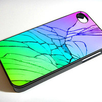 Cracked Out Broken Glass 451K - iPhone Case iPhone 4 Case iPhone 4S Case iPhone 5 Case iPhone 4 / 4S / 5 Case Hard Cover