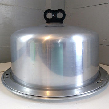 Vintage, 50s, Regal, Cake Carrier, Cake Keeper, Cake Storage, Cake Display, Container, Aluminum, Kitchen Decor, Prop, RhymeswithDaughter
