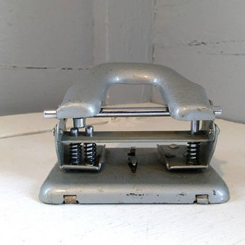 2 Hole Punch, General, Industrial, Office, Paper, Two, Hole, Punch, Crafting Tool, Office Equipment, MOD NO. 330, Metal,  RhymeswithDaughter
