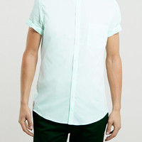 Light Green Short Sleeve Shirt - Men's Shirts - Clothing - TOPMAN USA