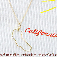 Custom Wire State Necklace