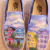 Charleston SC Houses Painted Shoes
