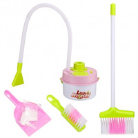 Toddlers Kids Cleaning Toys Set Mini Housekeeping Cleaning Supplies Pretend Play Broom/Brush/Dust Pan/little Helper