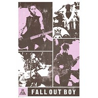 Fall Out Boy On the Road - Band Collage 24x36