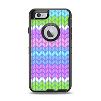 The Bright-Colored Knit Pattern Apple iPhone 6 Otterbox Defender Case Skin Set