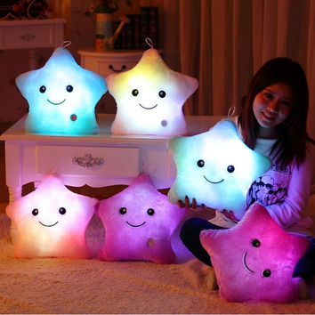 40*35CM 1pcs Stuffed Dolls LED Stars Light Colorful Pillows Popular Plush Toys for Kids = 1827659972
