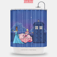 Doctor Who Disney Princess Shower Curtain Free shipping Home & Living 236