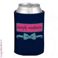 Simply Southern Preppy Koozies in Navy Bowtie