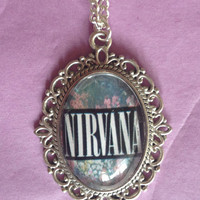 Nirvana floral Cameo Necklace