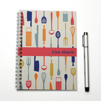 Personal Planner, Gift for a Cook, Foodie Present, Personalized Calendar, Custom kitchen schedule planner, 2015 2016 planner, SKU: pl chef p