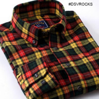 Unisex, Fall Color Pattern Flannel Shirt!! All Sizes- For the Hipster in you!!