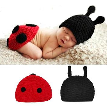 born Baby Clothing Set Cute Infant Knitted Costume Soft Handmade Crochet Cotton Photo Props Photography