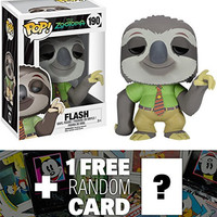 Flash: Funko POP! x Zootopia Vinyl Figure + 1 FREE Classic Disney Trading Card Bundle [75255]