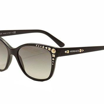 DCK4S2 Versace 4270 GB1/11 Black 4270 Studs Ladies Wayfarer Sunglasses