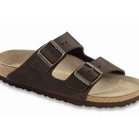 Love Birkenstock Arizona Natural Leather in Habana (Classic Footbed - Suede Lined)