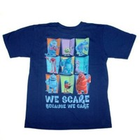 """Disney Store Little Boys Monsters Inc. """"We Scare Because We Care"""" Tee"""