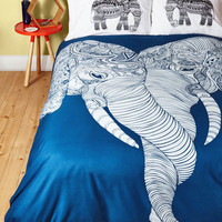 Safari Me and Unite Duvet Cover in Full, Queen by ModCloth