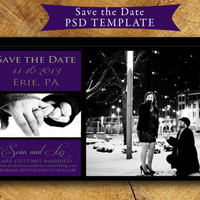PRINTABLE Save the Date Magnet or Postcard Instant download