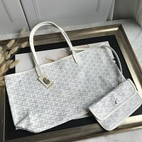 Kuyou Gb69729 Goyard Tote White Mini Carry Shopper Bag Picture Size 34*45*13 Cm