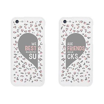Leopard Pattern Cute BFF Matching Phone Cases For Best Friends Gift